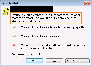 """תיקון שגיאת """"השם באישור האבטחה אינו חוקי או אינו תואם את השם של האתר"""""""